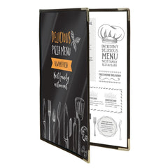 Securit Crystal Menu Holder Double A4 - icegroup hospitality superstore