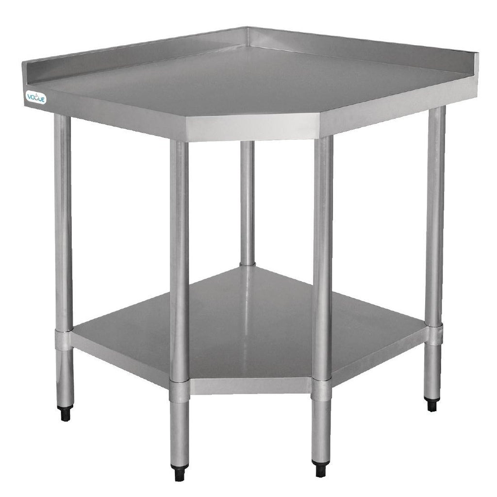 Vogue 600mm Stainless Steel Corner Table