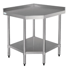 Vogue Stainless Steel Corner Table 600mm - icegroup hospitality superstore