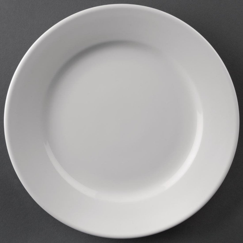 12PCE Athena Hotelware Wide Rimmed Plates 165mm