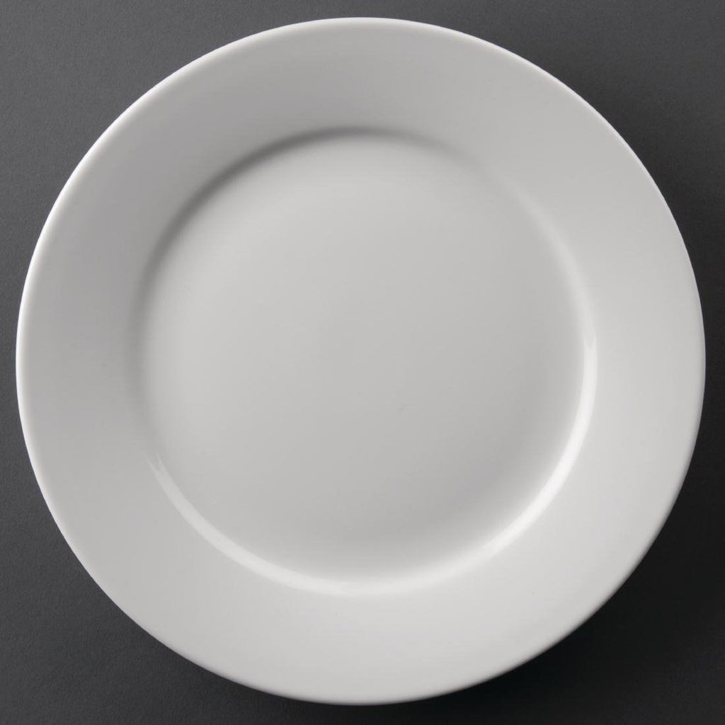 12PCE Athena Hotelware Wide Rimmed Plates 228mm