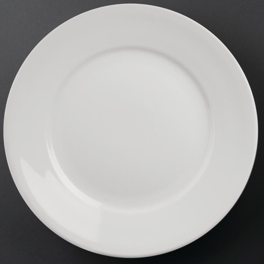 6PCE Athena Hotelware Wide Rimmed Plates 280mm