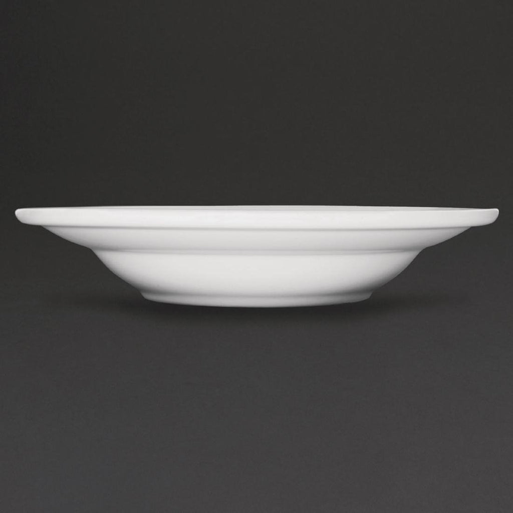 6PCE Athena Hotelware Rimmed Soup Bowls 228mm