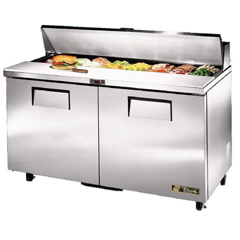 True Salad Prep Counter 2 Door 439Ltr Stainless Steel