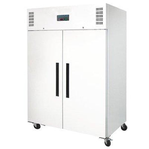 Polar 2 Door Upright Freezer 1200L White - icegroup hospitality superstore