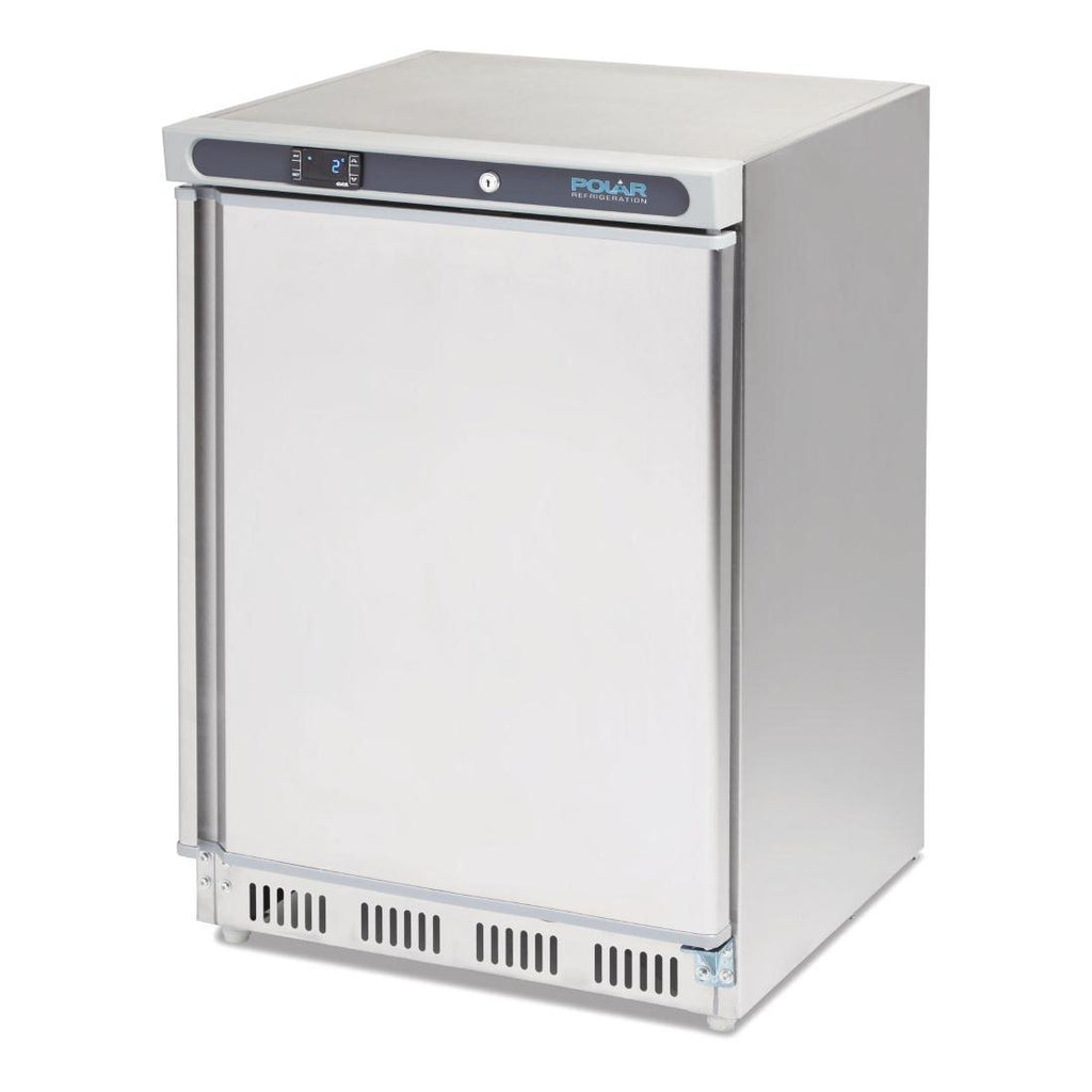 Polar 150L C-Series Undercounter Fridge Stainless Steel