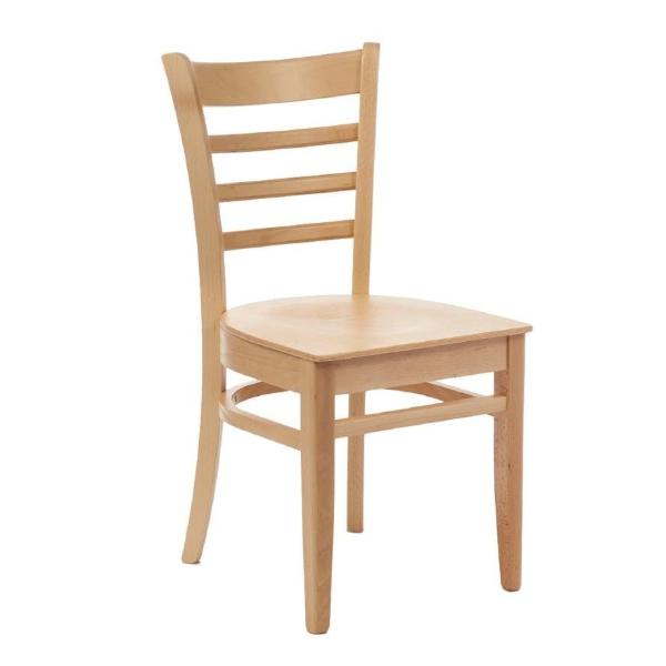 2PCE Fameg Slatted Side Chairs Natural Beech