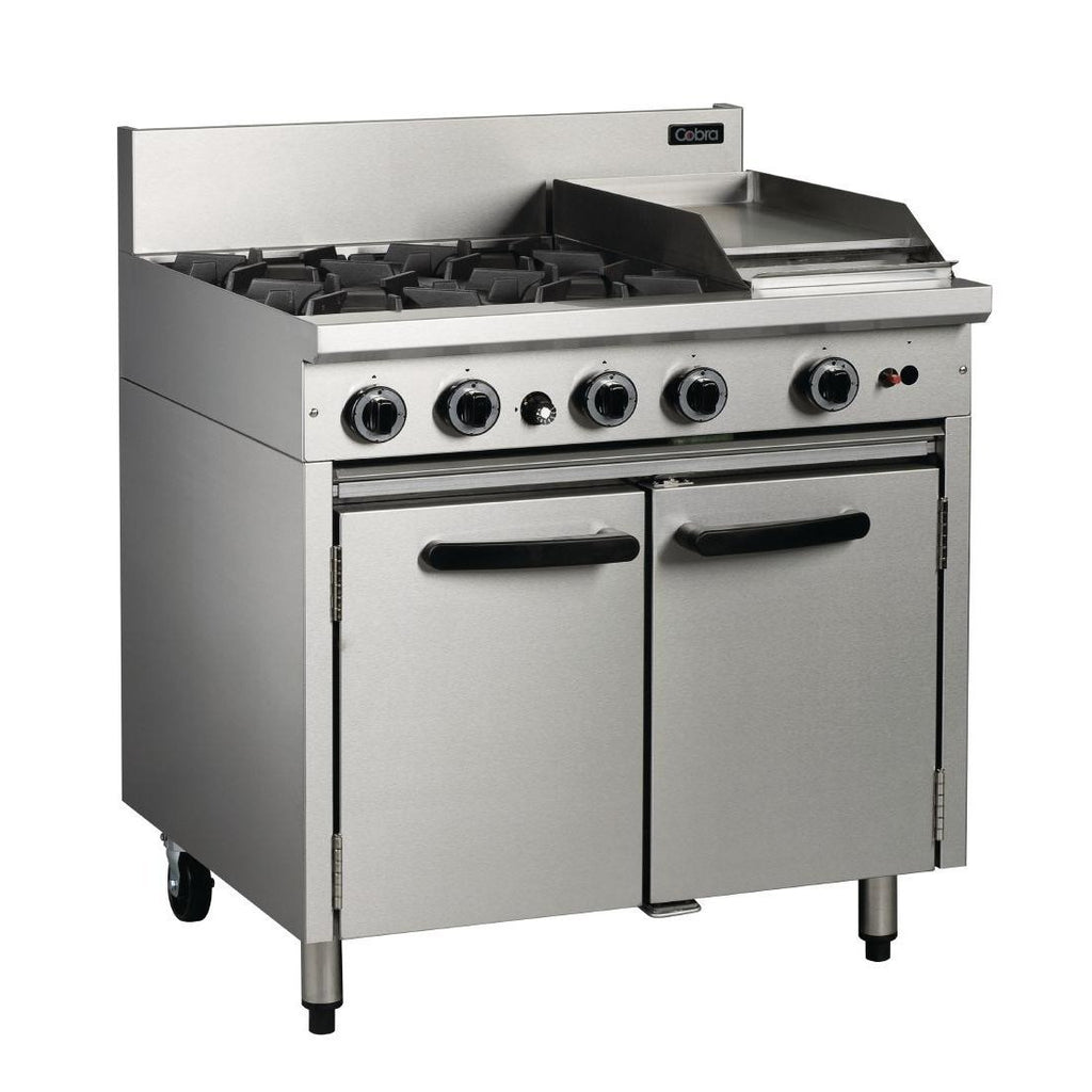 Cobra by Moffat 4 Burner Propane Gas Oven Range with Griddle Plate