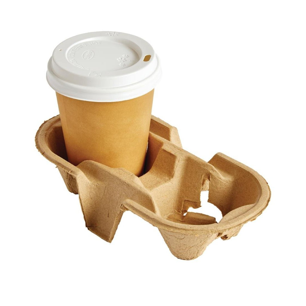360PCE Disposable Cup Carry Trays 2 Cup