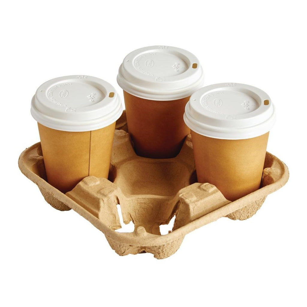 180PCE Disposable Cup Carry Trays 4 Cup