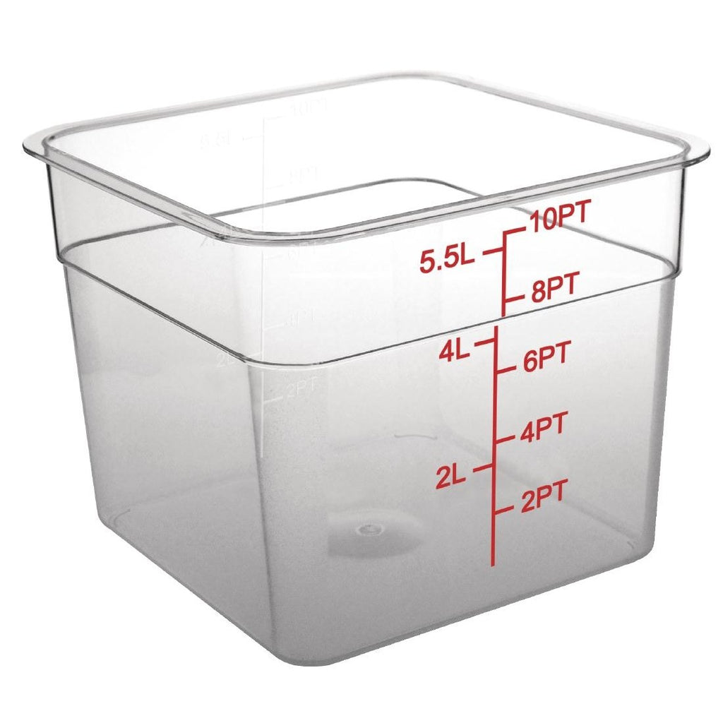 Vogue Polycarbonate Square Storage Container 5.5Ltr