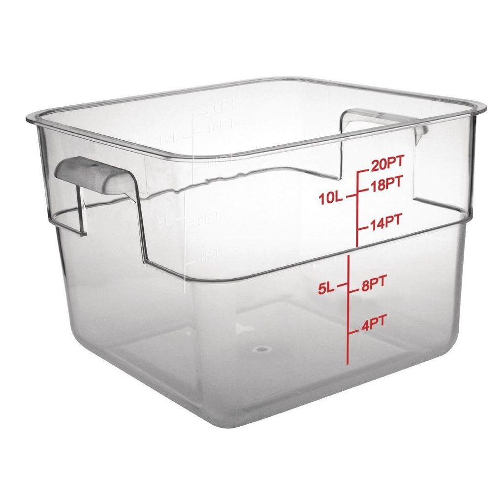 10L Vogue Polycarbonate Square Storage Container - ICE Group