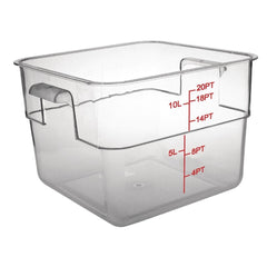 10L Vogue Polycarbonate Square Storage Container - ICE Group HospitalityWarehouse