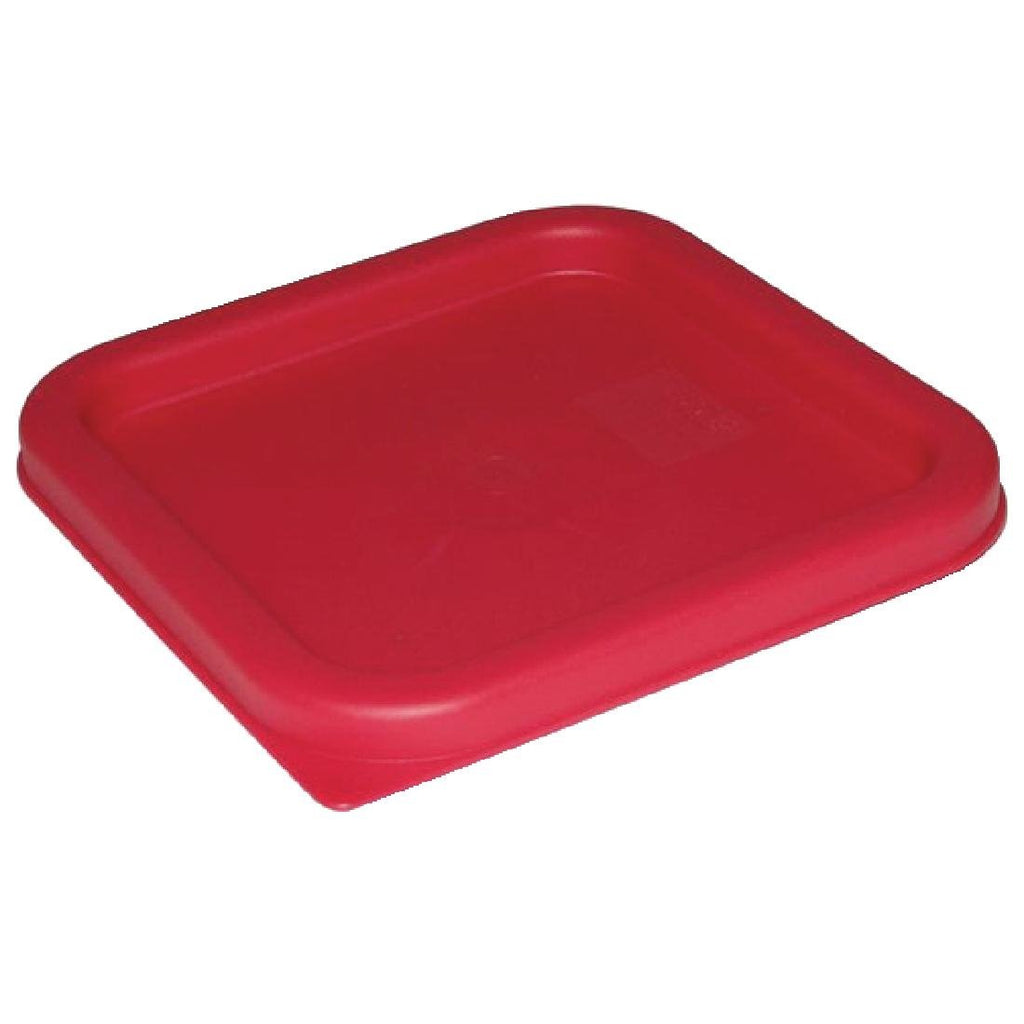 Vogue Red Square Lid Small