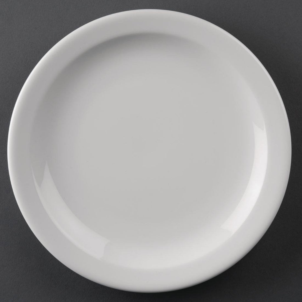 12PCE Athena Hotelware Narrow Rimmed Plates 205mm