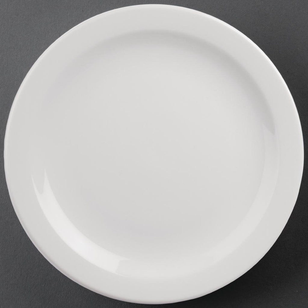 6PCE Athena Hotelware Narrow Rimmed Plates 284mm
