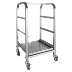 Vogue 3 Tier Glass Racking Trolley for 425mm Baskets - icegroup hospitality superstore