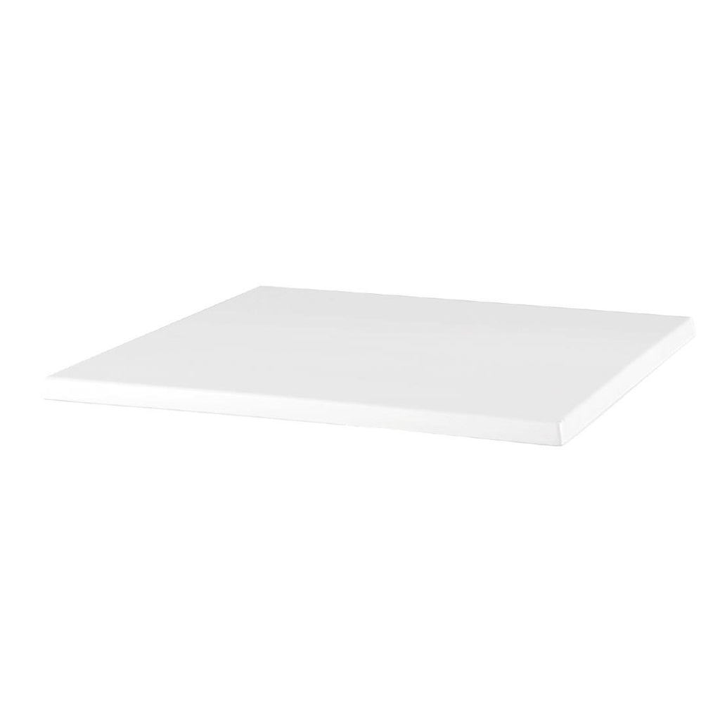 Werzalit Square Table Top White 600mm - ICE Group