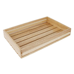 Olympia Low Sided Wooden Crate - icegroup hospitality superstore