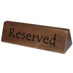 Olympia Acacia Menu Holder and Reserved Sign - icegroup hospitality superstore