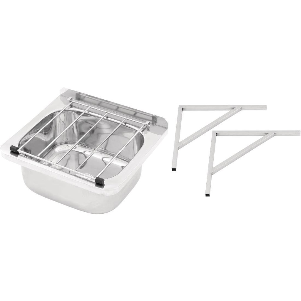 3monkeez Cleaners Sink with Grate & Brackets 31.2 Ltr