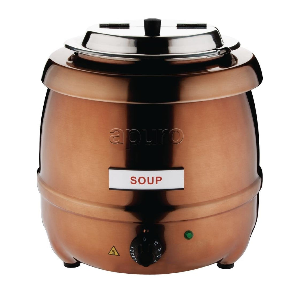 Apuro Soup Kettle Copper Finish 10L - ICE Group Hospitality Warehouse