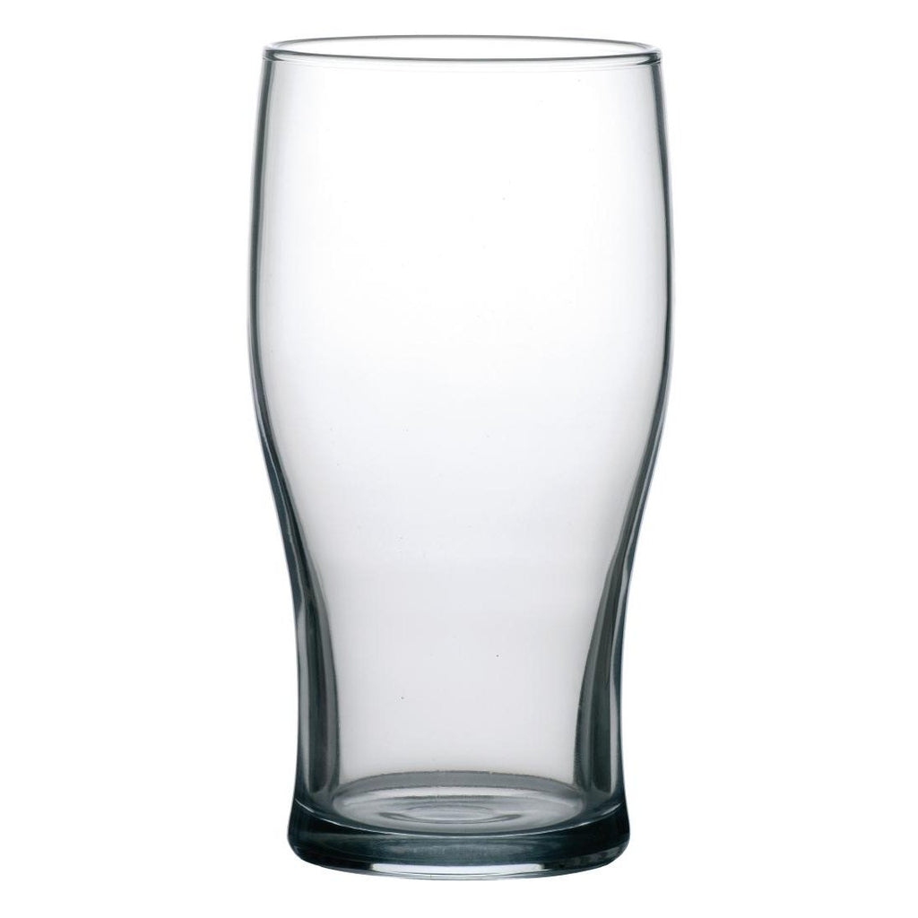 48PCE Arcoroc Tulip Nucleated Beer Glasses 560ml