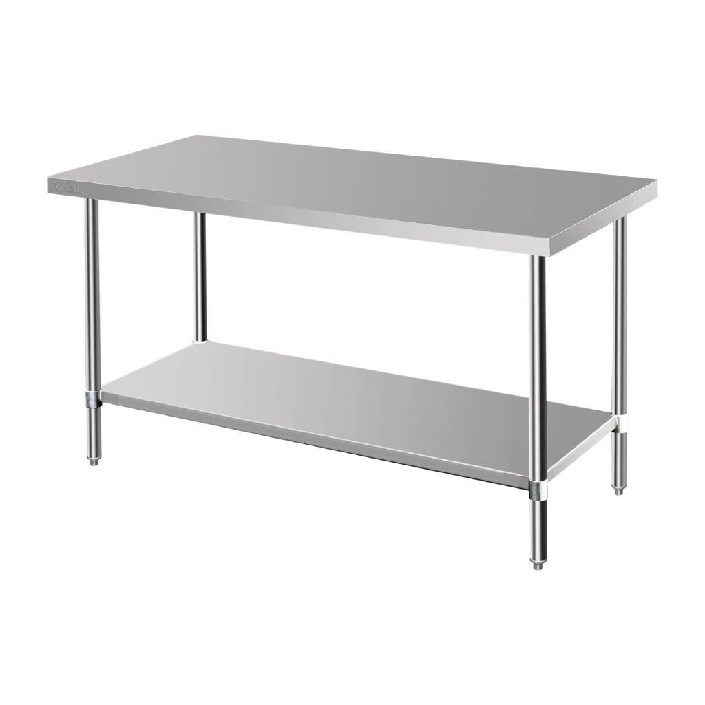 Vogue Premium Stainless Steel Prep Table 1500mm