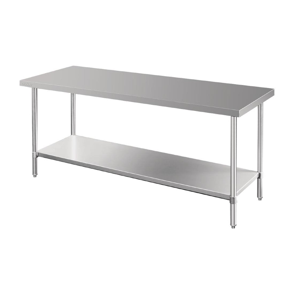 Vogue 1800mm Premium Stainless Steel Prep Table