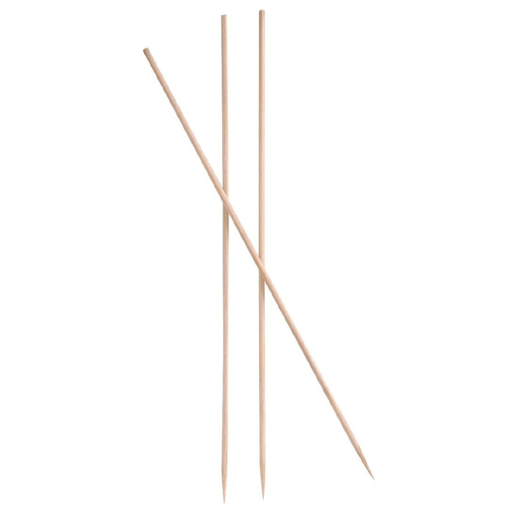 100PCE Bamboo Skewers Pointed 180mm