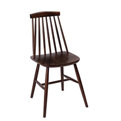 Fameg Farmhouse Angled Sidechair Walnut Effect (Pack of 2) - icegroup hospitality superstore