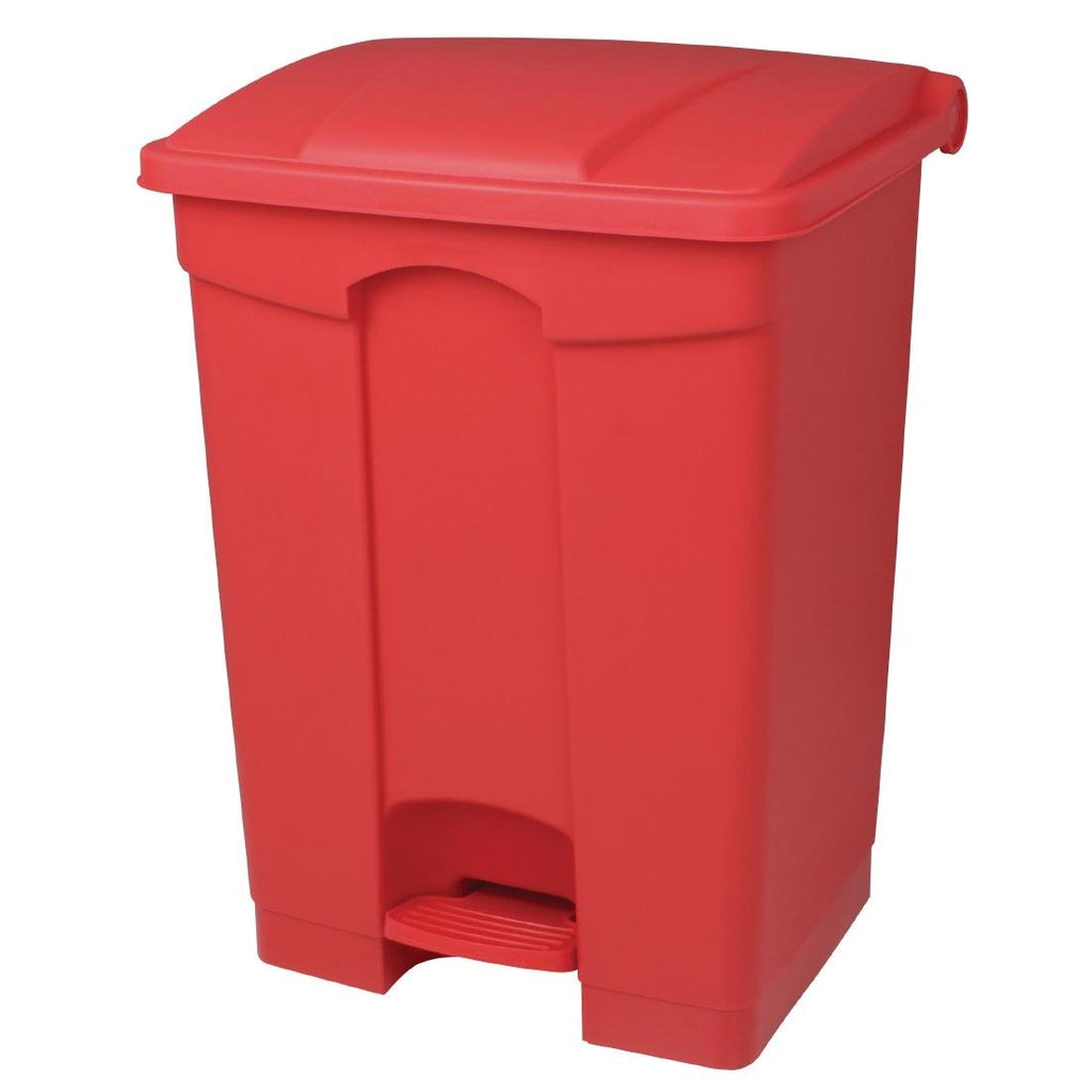 Jantex Kitchen Pedal Bin Red 45Ltr
