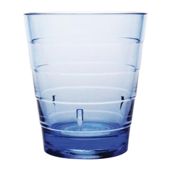 Kristallon Polycarbonate Ringed Tumbler Blue 285ml - icegroup hospitality superstore