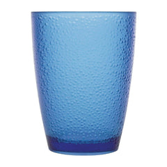 Kristallon Polycarbonate Tumbler Pebbled Blue 275ml - icegroup hospitality superstore