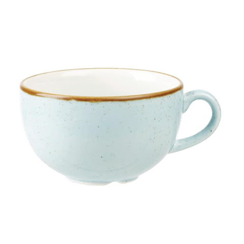12CPE Churchill Stonecast Cappuccino Cup Duck Egg Blue 8oz