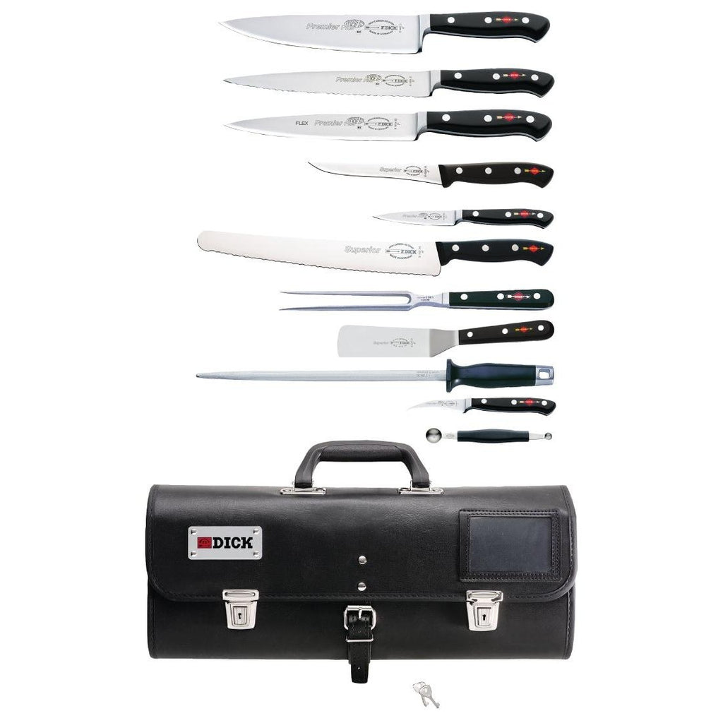 Dick 11 Piece Knife Set With Roll Bag - ICE Group