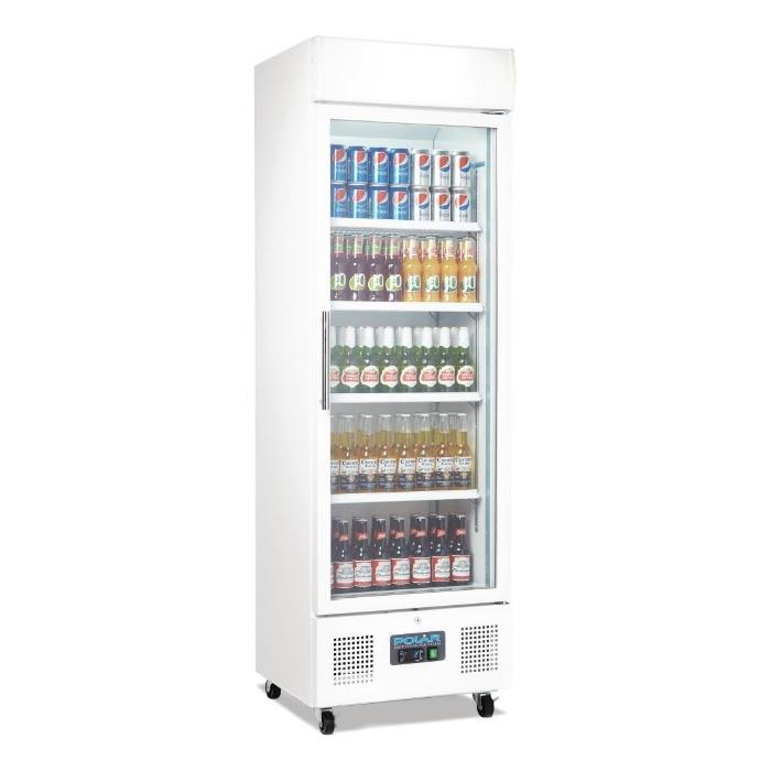 Polar 350L G-Series Upright Display Fridge White