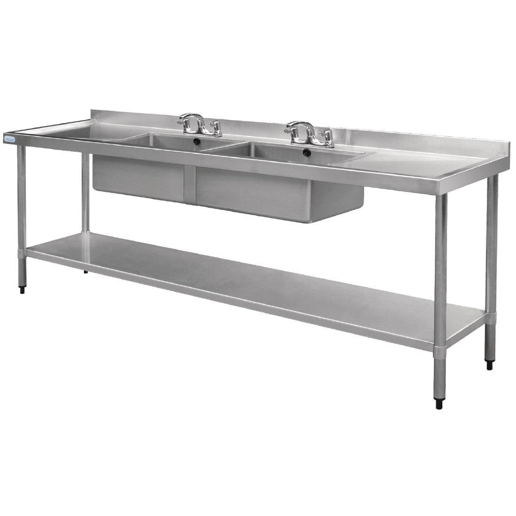 Vogue 2400mm Double Bowl Sink Double Drainer