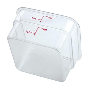6PCE Cambro Square Polycarb Food Storage Container 1.9L Clear 2SFSCW