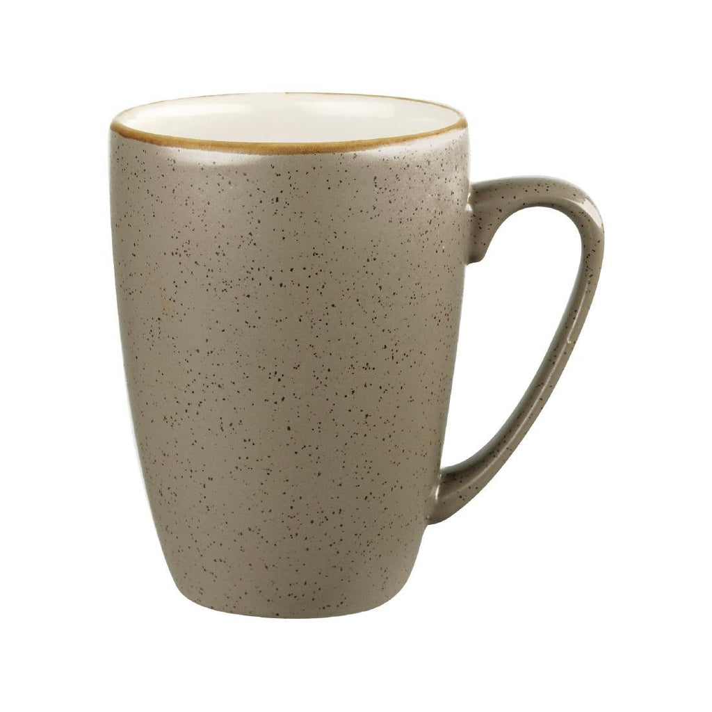 12PCE Churchill Stonecast Peppercorn Grey Mug 340ml
