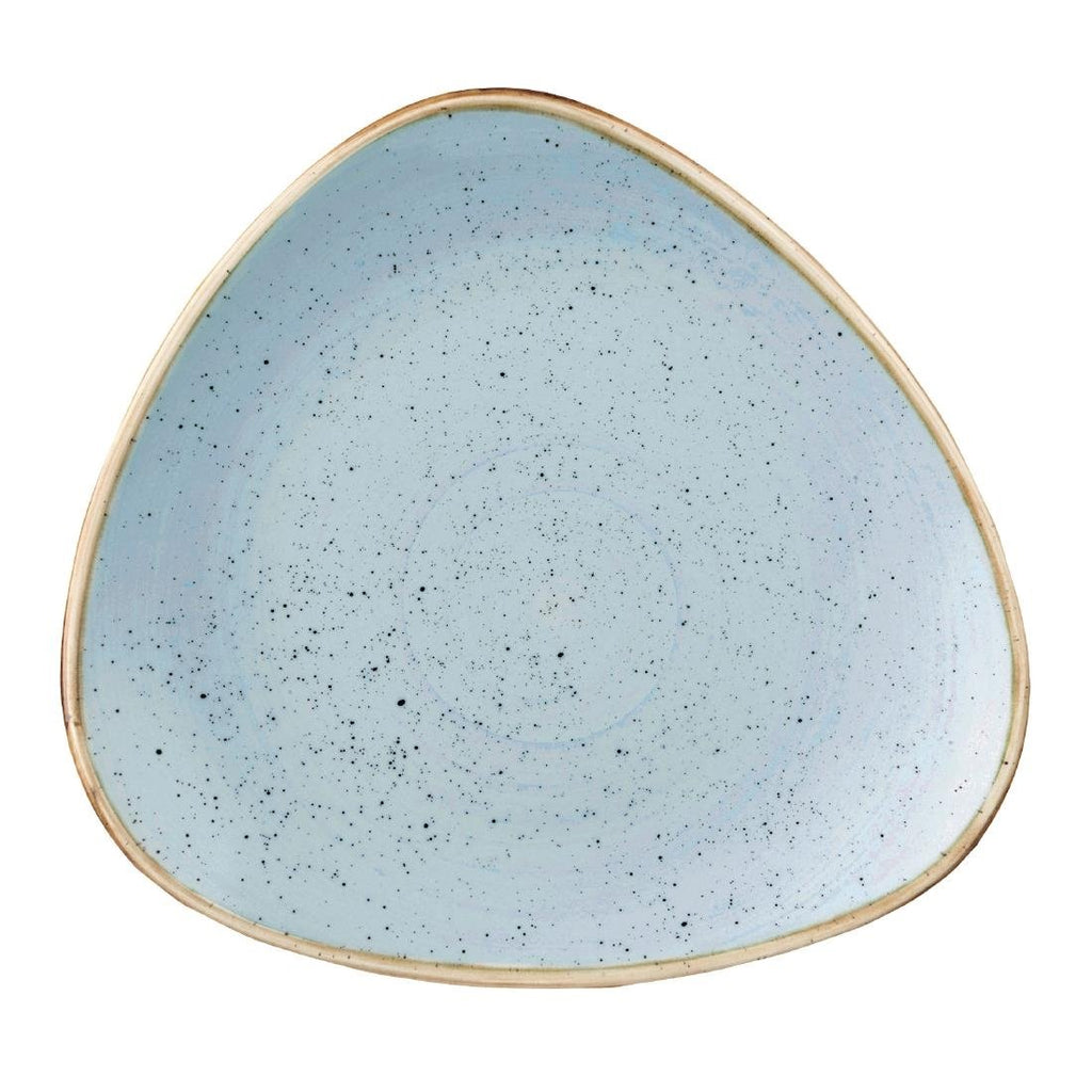 12CPE Churchill Stonecast Duck Egg Blue Triangular Plate 229mm