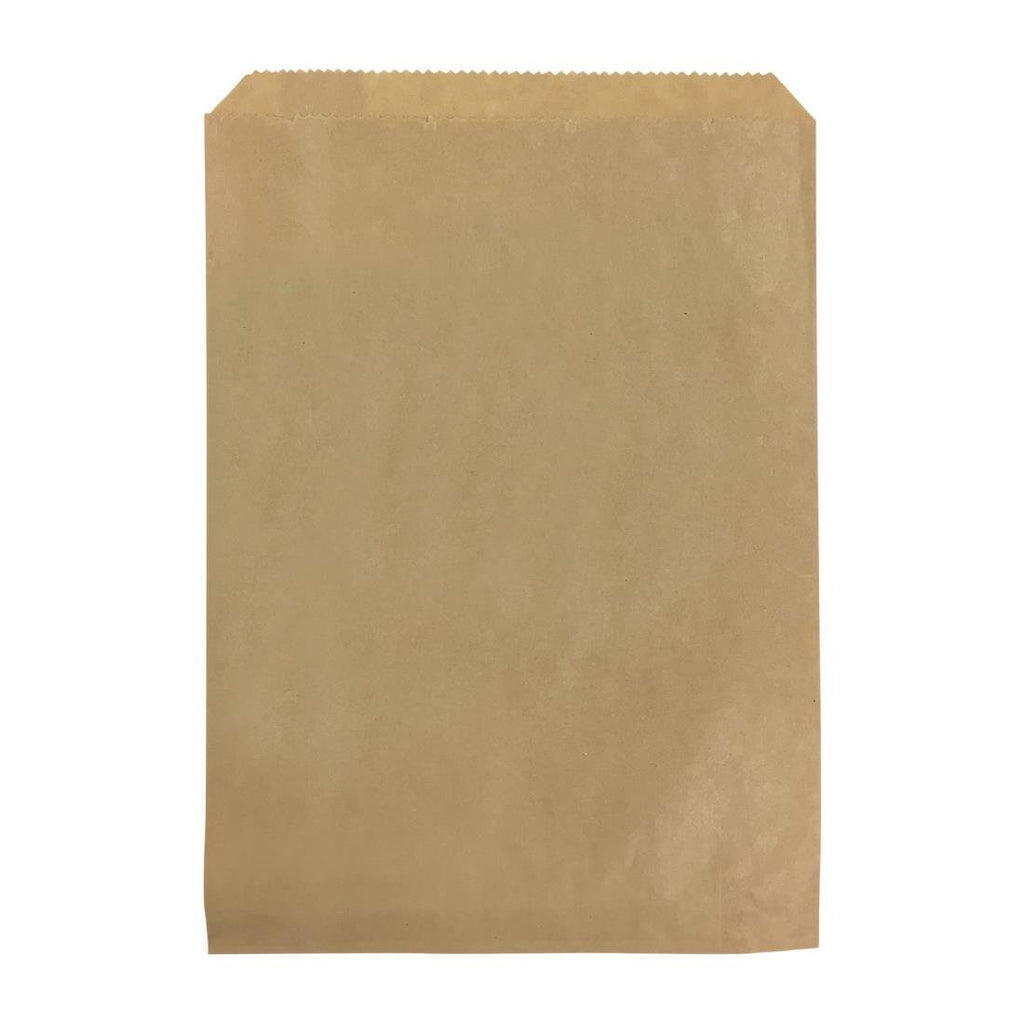 1000PCE Castaway Flat Brown Paper Bag - ICE Group