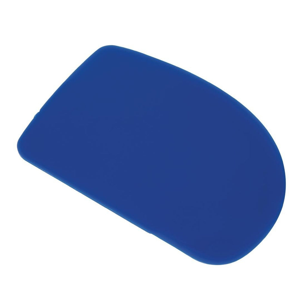 4PCE Vogue Plain Plastic Dough Scraper