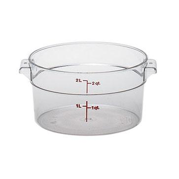 12PCE Camwear Food Storage Container Round 1.9L Clear (135) RFSCW2