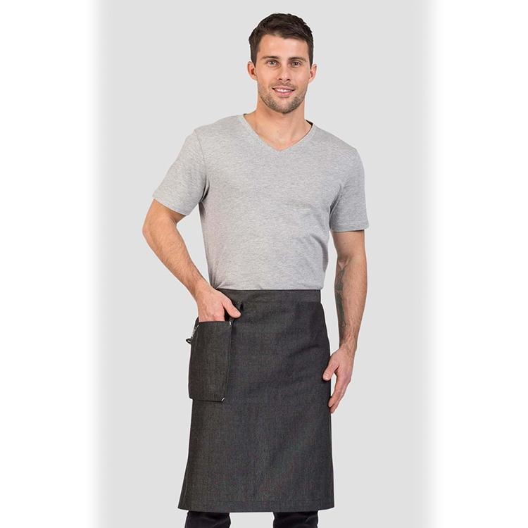 Aussie Chef Cafe Series Venice Waist Apron Grey with Hanging Pocket