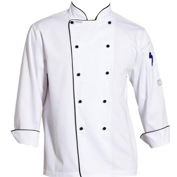 ChefsCraft M Chef Jacket L/S White CJ037