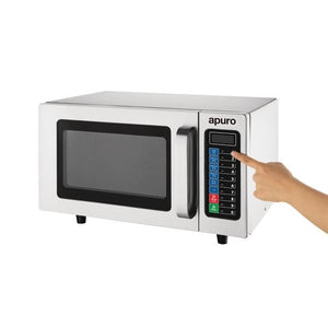 Apuro Light Duty 1000W Commercial Microwave 25Ltr