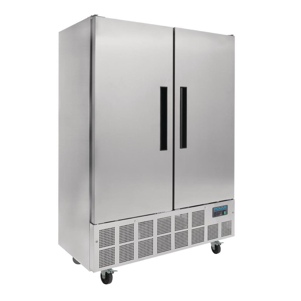 Polar 960L G-Series 2 Door Slimline Fridge Stainless Steel