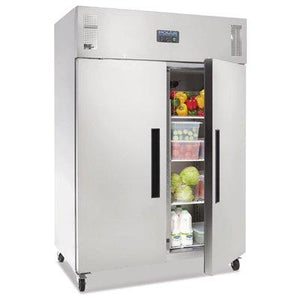 Polar 2 Door Upright Fridge 1200L Stainless Steel - icegroup hospitality superstore
