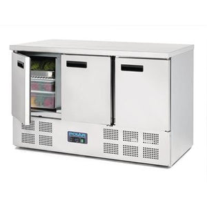 Polar 3 Door Counter Fridge 368L Stainless Steel - icegroup hospitality superstore